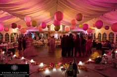 lanterns at reception