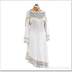 Kjole i hvitt og gull str.38 - 42 Victorian, Dresses With Sleeves, Gull, Wedding Dresses, Long Sleeve, Design, Fashion, Summer, Creative