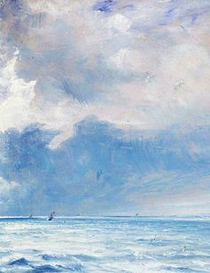art for art's sake:  The Sea near Brighton (detail), John Constable, 1826