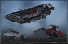 SWTOR Concept Art - Imperial Transporter // by Ryan Dening