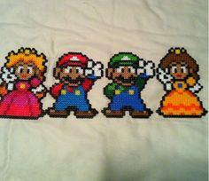 Mario and friends perler beads