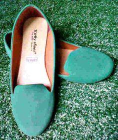 Flat shoes green harga Rp 45.000