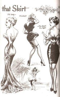 """John Willie, """"That Skirt"""", 1952, Bizarre"""