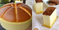 Gentle, airy like a sponge, cotton Japanese cheesecake - a lush, slightly trembling cake with creamy taste. Hot Milk Sponge Cake Recipe, Sponge Cake Recipes, Japanese Cake, Japanese Cheesecake, Biscuit Cake, Romanian Food, Russian Recipes, Kefir, Good Food
