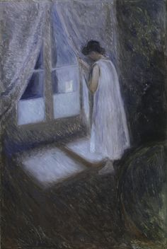 The Girl at the Window - Edvard Munch  1893