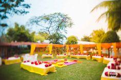 Deepali & Devesh - Destination Wedding in Noor us Sabah Palace, Bhopal - The Wedding Salad Outdoor Indian Wedding, Indian Wedding Photos, Indian Weddings, Unique Weddings, Mehendi Decor Ideas, Mehndi Decor, Desi Wedding Decor, Wedding Stage Decorations, Flower Decorations