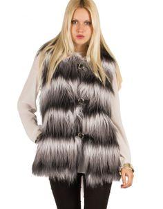 Toi&moi THE e-FASHION STORE - Δίχρωμη γούνα γιλέκο