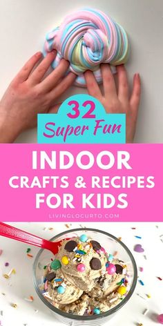 Fun things to do when you're bored and stuck at home. DIY indoor craft ideas, easy recipes, kids activities and boredom busters. For Kids Indoor Fun Crafts To Do, Diy Home Crafts, Summer Crafts, Crafts To Do When Your Bored, Family Crafts, Holiday Crafts, Summer Fun, Easy Meals For Kids, Diy For Kids