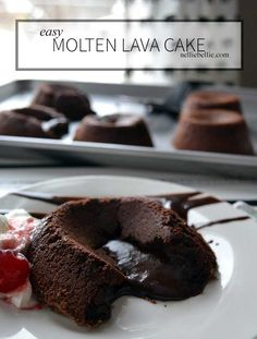 This easy lava cake by my daughter Katie is moist and delicious!! A perfect special dessert for the beginning baker!