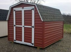 Red Vinyl Mini Barn Http://www.woodtex.com/storage