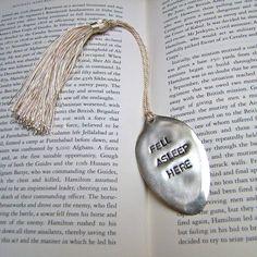 'fell asleep' vintage spoon bookmark by home & glory   notonthehighstreet.com