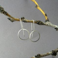 Sterling Silver Loop Earrings by lynnbowes on Etsy, $44.00