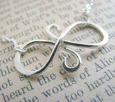 Infinity Symbol Necklace - Gift Best Friends - Eternal Friendship Sterling Silver - Gift Girlfriends Bridesmaids