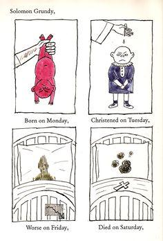 Charles Addams Illustrates Mother Goose, 1967 | Brain Pickings.Solomon Grundy