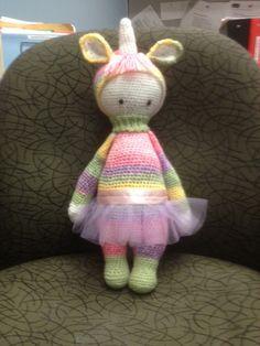 Unicorn mod made by Deborah L. / based on a lalylala crochet pattern