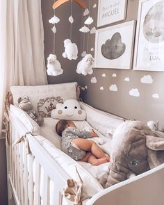 30 elegant modern nursery design and decor ideas for babies # baby . 30 elegant modern nursery design and decor ideas for babies # baby . Baby Nursery Decor, Baby Bedroom, Baby Boy Rooms, Baby Boy Nurseries, Baby Decor, Baby Room Ideas For Boys, Small Nurseries, Floral Nursery, Room For Baby Girl
