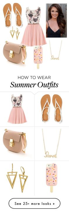 spring outfit or summer??? by maryjsullivan on Polyvore featuring Aéropostale, Chloé, Sydney Evan and Tory Burch