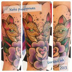 https://www.facebook.com/VorssaInk, http://tattoosbykata.blogspot.fi, tattoo, tattoos, kata puupponen, vorssa ink, forssa, finland, kauris, deer, ruusu, rose