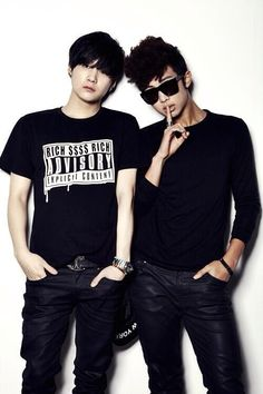 BTS | Min Yoongi and Kim Namjoon  //predebut picture omfg