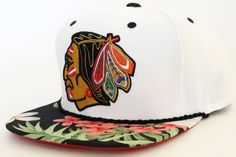 Handcrafted Custom Chicago Blackhawks Snapback Hat by Snap'Em Back Sports for $54.99 + free shipping!
