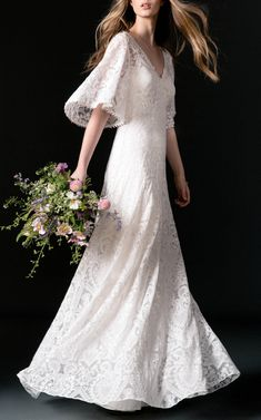 Embellished bridal gown, simple style yet so beautiful, has a care free look about it.