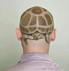 That's even better protection than a helmet. #InkedMagazine #turtle #inked #tattoos #animal #tattoo