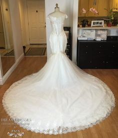 Gorgeous Off-Shoulder Trumpet Gown With by DreamDressesByPMN $2000+