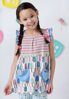 Matilda Jane Happy and Free Spring 2016 Collection Looks Like Funsicle Tunic Jessica Van Roy Independent Matilda Jane Trunk Keeper Girls Dream Closet, Kid Closet, Hood Girls, Matilda Jane, Couture, Boutique Clothing, Jane Clothing, Cool Patterns, Look