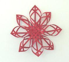Finnish Star Ornament - 10 Inch Red | LilyAndReed - Seasonal on ArtFire