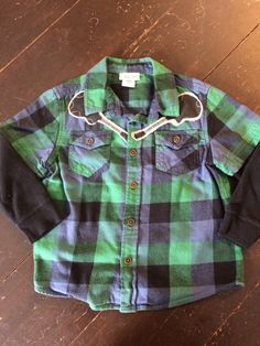 Items similar to Boys plaid long sleeve button down with stitched guitars on Etsy Cherokee Brand, Branded Shirts, Cute Shirts, Guitars, Button Downs, Long Sleeve Shirts, Men Casual, Plaid, Etsy Shop