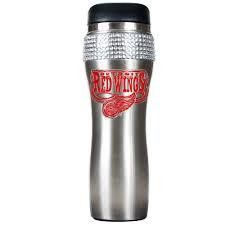 NHL Great American Products Detroit Red Wings Stainless Steel Bling Travel Tumbler