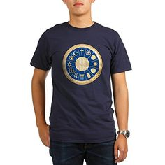 Royal Lion Organic Mens TShirt Dark International Peace Symbol Religions  Pacific Large >>> Click image to review more details.