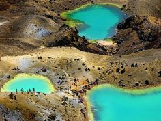 Emerald-Seen im Tongariro Nationalpark/ Neuseeland
