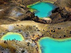 Emerald-Seen im Tongariro Nationalpark/ Neuseeland