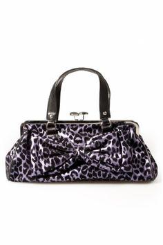 Rock Rebel Darling Purple Leopard handbag