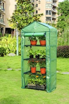 GROW IT MINI 4 TIER FLEECE GARDEN GREENHOUSE FROST PROTECTION REPLACEMENT COVER