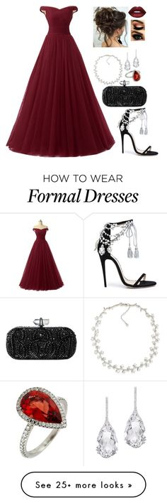 """Untitled #326"" by lovelyoutfitss on Polyvore featuring Carolee, Marchesa and Plukka"