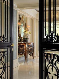 Beautiful iron doors.
