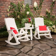 The Comfort Rocker Set - ships fully assembled and ready to use out of the box!  Looks like the perfect Mother's Day gift....