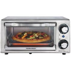 Hamilton Beach 4-Slice Toaster Oven, Stainless Steel or black or red $35