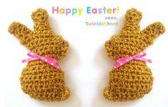 Free Crochet Pattern: Chocolate Easter Bunny Mini-Plush! | Twinkie Chan Blog