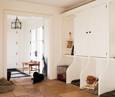 I like it.  Open up the closet but leave an enclosed area for coats, etc.  The dog beds are awesome.