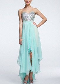 Prom 2014 Dresses and Gowns - Davids Bridal - Love the #highlow trend! #prom #allaboutdance