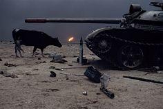 fishstickmonkey: ihaveseenanotherworld: we are the inferno. Steve McCurry - Ahmadi Oil Fields, Kuwait, 1991