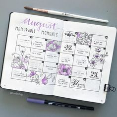 Bullet journal memories spread by bumblebujo