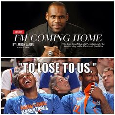 ddaec99b651e lebron james lost to Golden State funny - Google Search