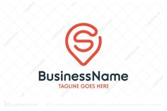 Logo for sale: Letter S Map Pin Logo. Unique logo combination of map pointer and letter s to show local or location related business. alphabet s travel courier delivery find search trip journey go transport transportation logo logos spot locate