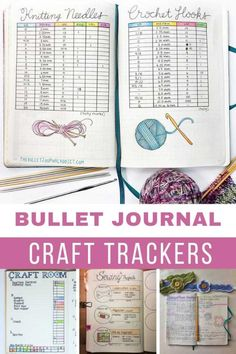 Loving these bullet journal craft trackers for remembering where I am in which project! Bullet Journal Savings Tracker, Bullet Journal Hacks, Bullet Journal Spread, Bullet Journal Ideas Pages, Bullet Journal Layout, Bullet Journal Inspiration, Bullet Journals, Bullet Journal Knitting, Project Planner