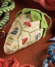 Barbara Jackson, Embroidered Strawberry