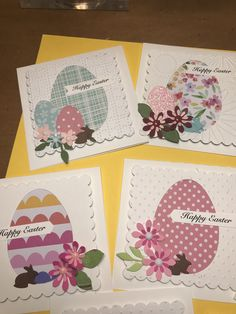 Homemade Greeting Cards, Hand Made Greeting Cards, Making Greeting Cards, Homemade Cards, Diy Easter Cards, Diy Cards, Easter Crafts, Scrapbook Paper Crafts, Scrapbooking